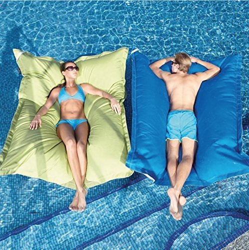 This Gigantic Bean Bag Pool Float is The Absolute Perfect Nap Spot