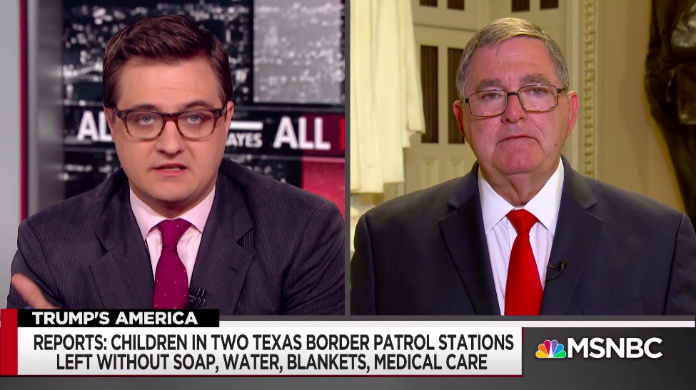 Watch This Republican Congressman Do Everything to Avoid Discussing the Conditions for Migrant Kids