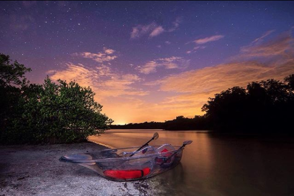 You Can Propel Through Florida's Bioluminescent Waters in a See-Through Kayak