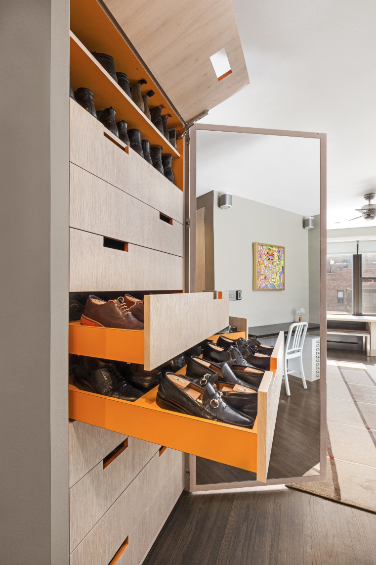 This Home Has a Hidden Hermès Orange Closet That Can Store 87 Pairs of Shoes