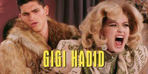 Gigi Hadid Moschino campaign