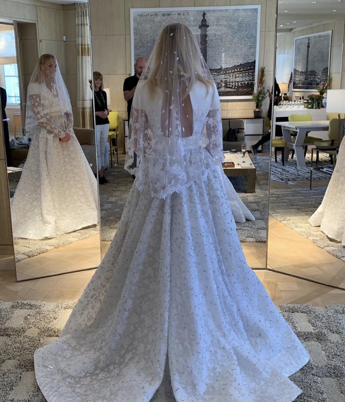 Sophie Turner's Wedding Dress Revealed by Louis Vuitton Designer
