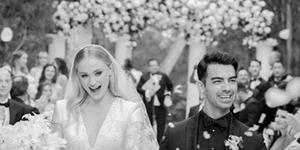 Sophie Turner, Joe Jonas, huwelijk, bruiloft, bruidsjurk, trouwjurk, Louis Vuitton