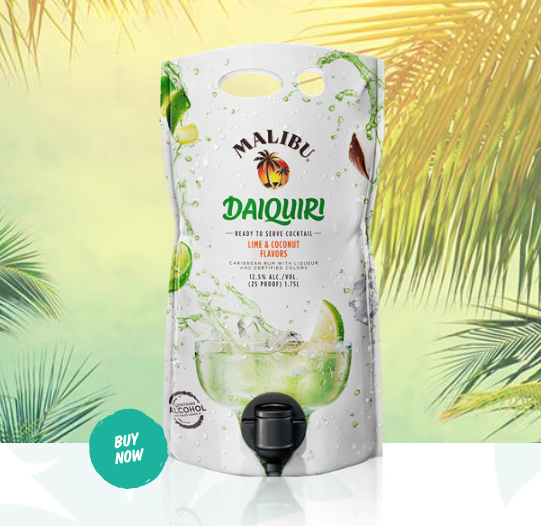 These Giant Malibu Rum Cocktail Pouches Have 1.7 Liters of Booze