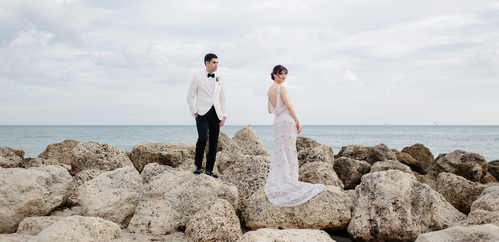 BAZAAR.com Beauty Director Jenna Rosenstein Mixed Art Deco with a Star Wars Obsession for her Wedding in Miami Beach