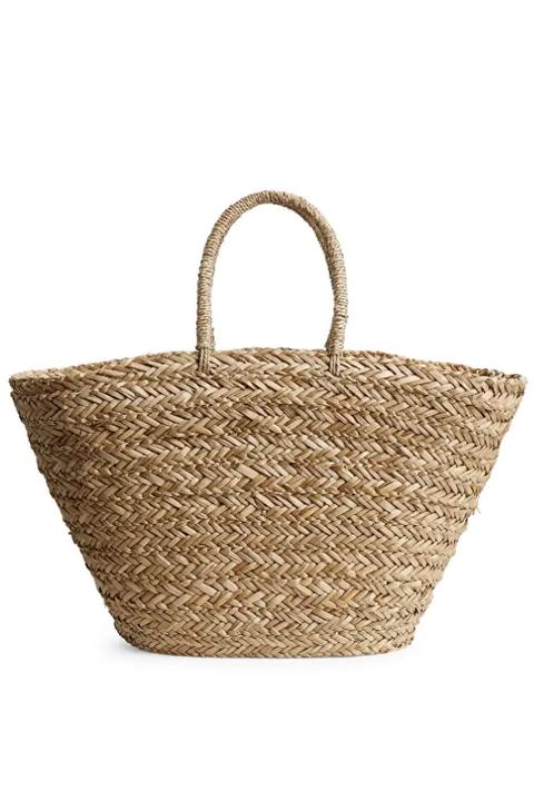 arket straw basket bag