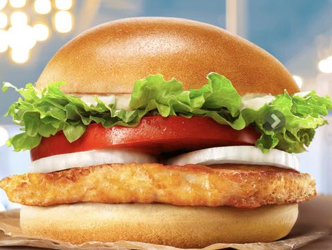 Food, Fast food, Hamburger, Junk food, Dish, Burger king grilled chicken sandwiches, Breakfast sandwich, Original chicken sandwich, Cuisine, Cheeseburger,