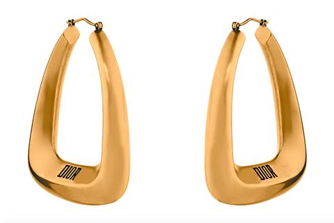 Gouden oorbellen Dior