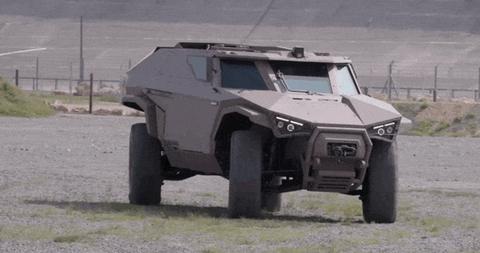 This Weird Humvee Is a Sideways-Driving Freak Machine