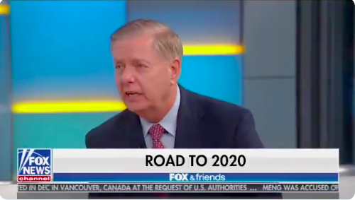 Lindsey Graham Just Debased Himself Again While Running Cover for Trump's Racist Twitter Tirade