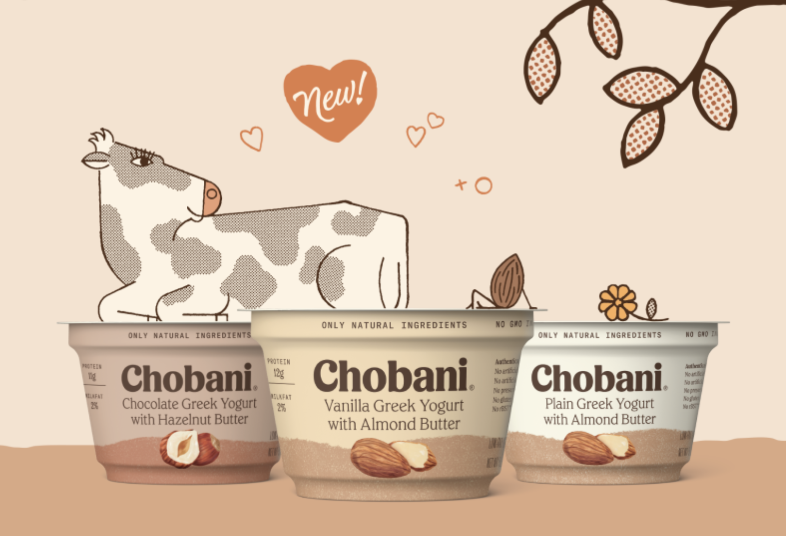 Chobani S New Yogurt Cups Come With 3 Different Nut Butters