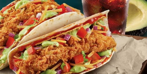 Um, KFC Is Also Making Tacos Now And They Come Stuffed With Fried Chicken