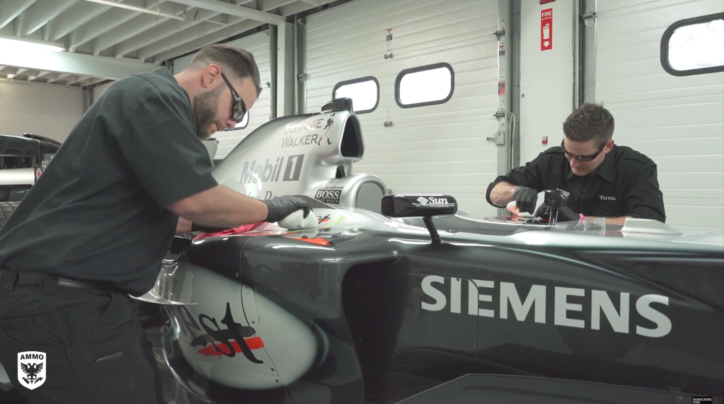 Detailing a Formula 1 Car Is As Finicky As You'd Expect