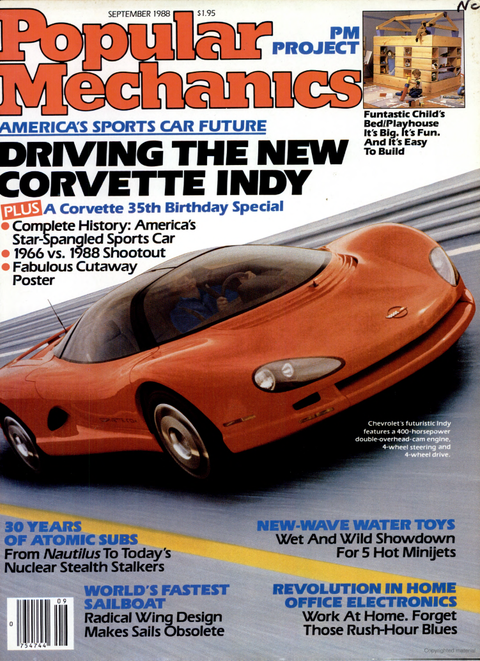 A Closer Look at Chevy's Mid-Engine Corvette   From 1988?