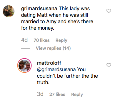 Matt Roloff Claps Back After Fan Accuses Him of Dating Caryn While He Was Married to Amy