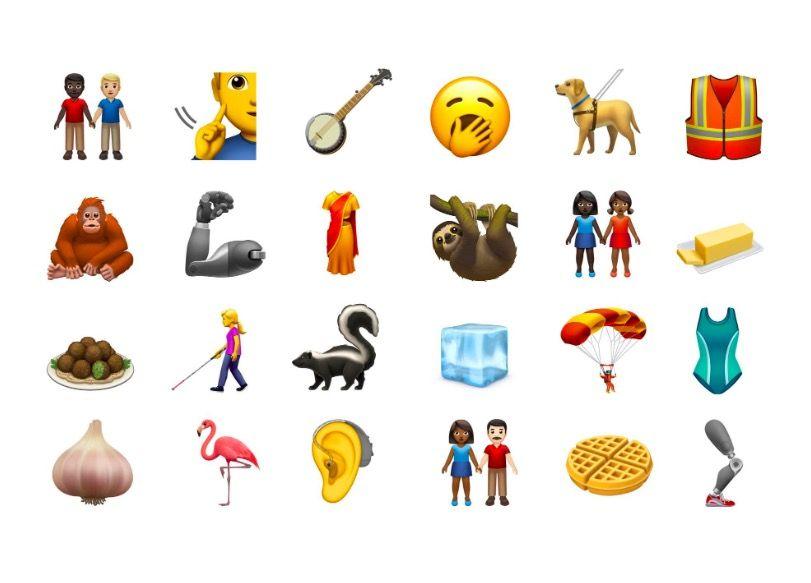 New iPhone emojis 2019