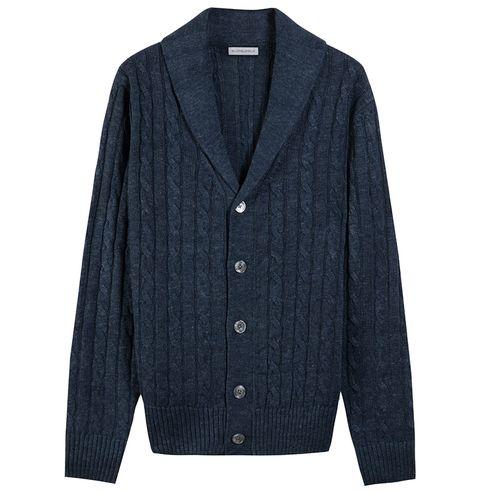 Clothing, Outerwear, Sleeve, Cardigan, Sweater, Jacket, Collar, Button, Top, Denim,