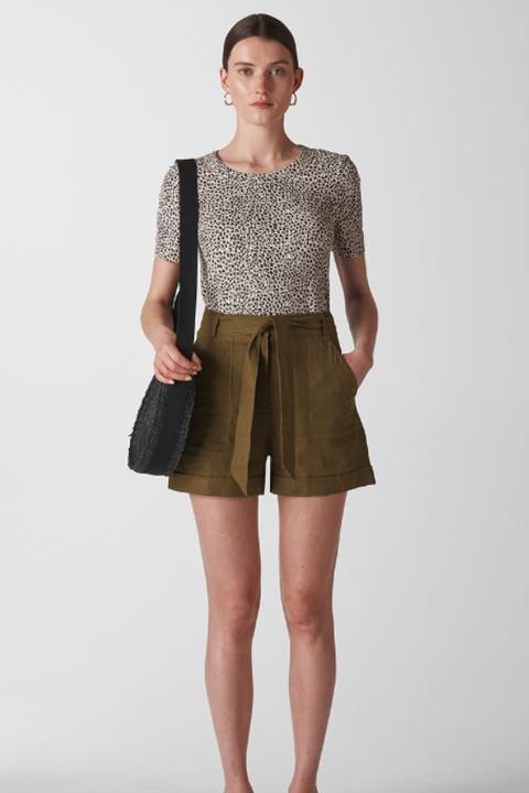 heatwave dressingTie Waist Linen Shorts