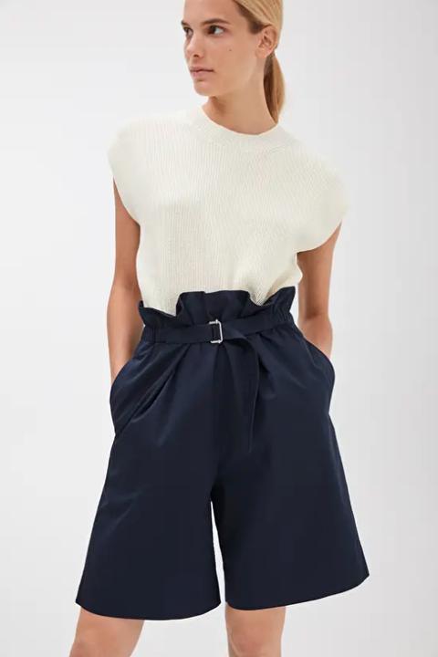 heatwave dressing -arket belted shorts navy