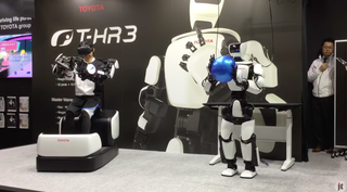 toyota t-hr3 demonstration robot