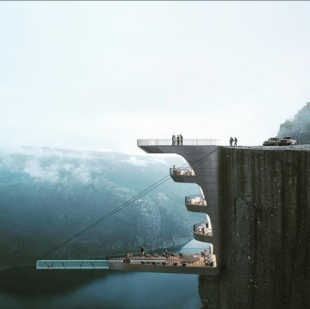 concept hotel hang off cliff