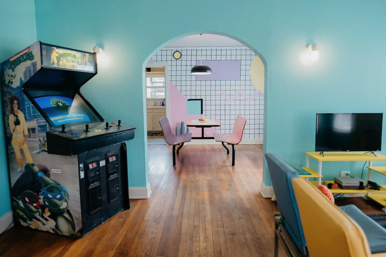 This Colorful Airbnb is Entirely Decked Out in Nostalgic '80s Decor