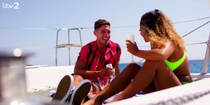 Love Island fans are convinced Greg and Amber's date was against a green screen