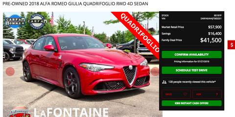Our Former Long-Term Alfa Romeo Giulia Quadrifoglio Test Car Is for Sale