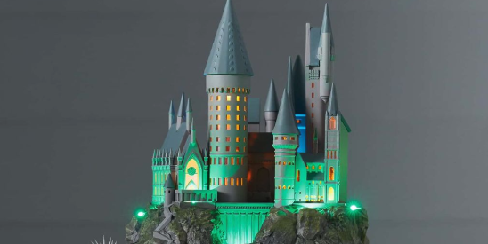 This Harry Potter Hogwarts Christmas Tree Topper Can Sing