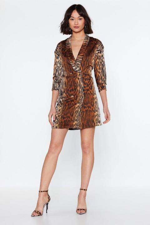 best blazer dresses - animal printTake a wild guess blazer dress nasty gal