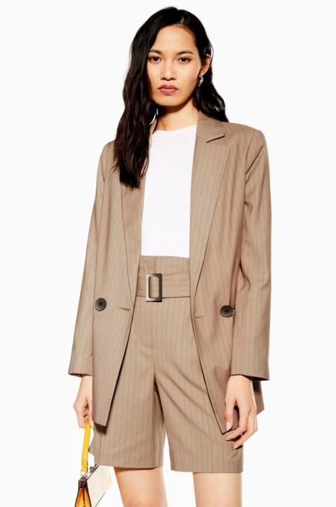 topshop pin stripe short suit
