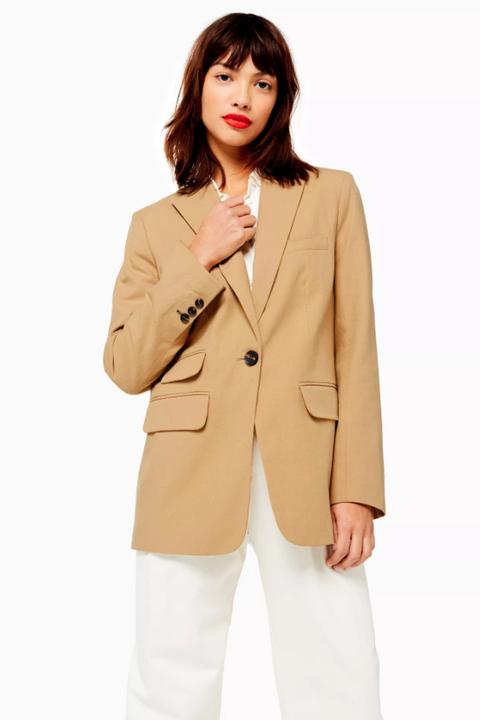 topshop beige blazer