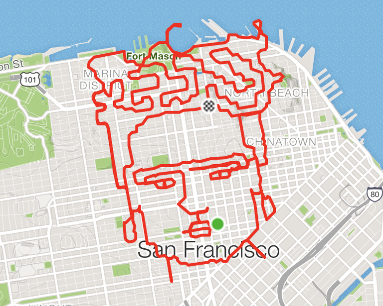 Strava Art - Lenny Maughan Uses Strava to Draw Running Routes on mykonos on world map, hue on world map, fremont on world map, kano on world map, gdansk on world map, babylon city on world map, altamira on world map, kauai hawaii on world map, chicago on world map, montreal on world map, longyearbyen on world map, mexico city on world map, buenos on world map, new york on world map, charles town on world map, tokyo on world map, california on world map, disneyland on world map, canberra on world map, sanaa on world map,