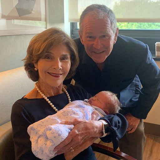 George W. Bush Beams With Jenna Bush Hager's Baby in Sweet Photos