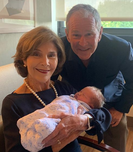 George W Bush Shares Photo Of Jenna Bush Hager S Baby Boy Hal
