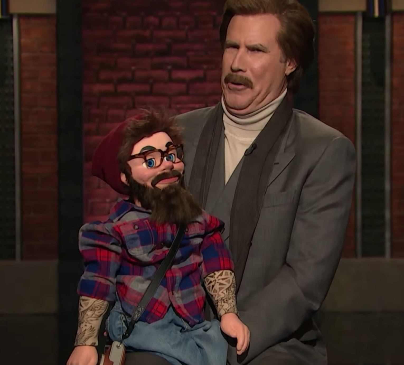 Will Ferrell's Ron Burgundy Polished His Stand-Up Act in Appearances on All the Late Night Shows
