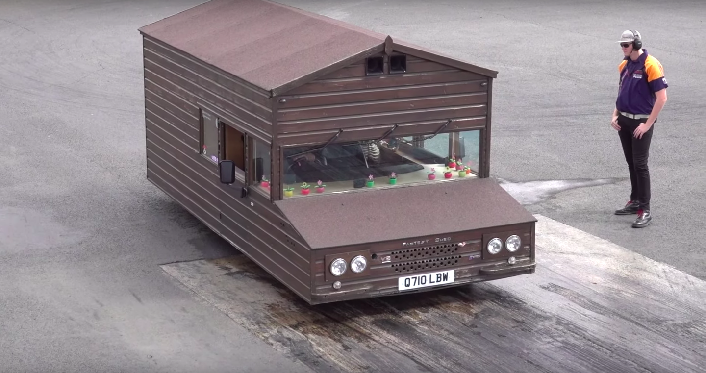 Watch the World's Fastest Shed Rip Down the Quarter-Mile