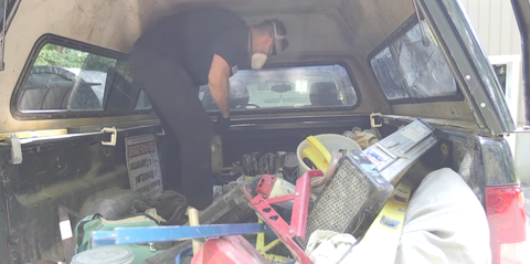 Chevrolet Silverado Being Cleaned Out