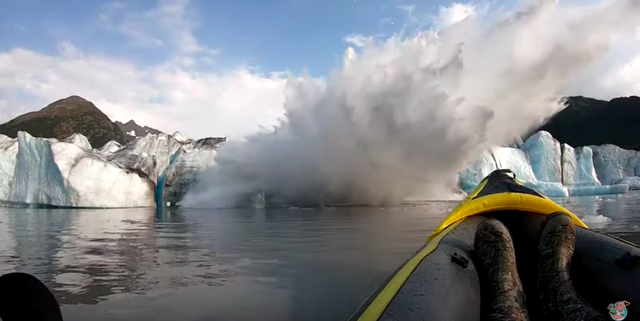 Watch This Guy Marvel at a Glacier Collapse in a Nice Metaphor for Everything