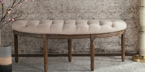 Furniture, Coffee table, Table, Wall, Room, Wallpaper, Bench, Material property, Interior design, Beige,