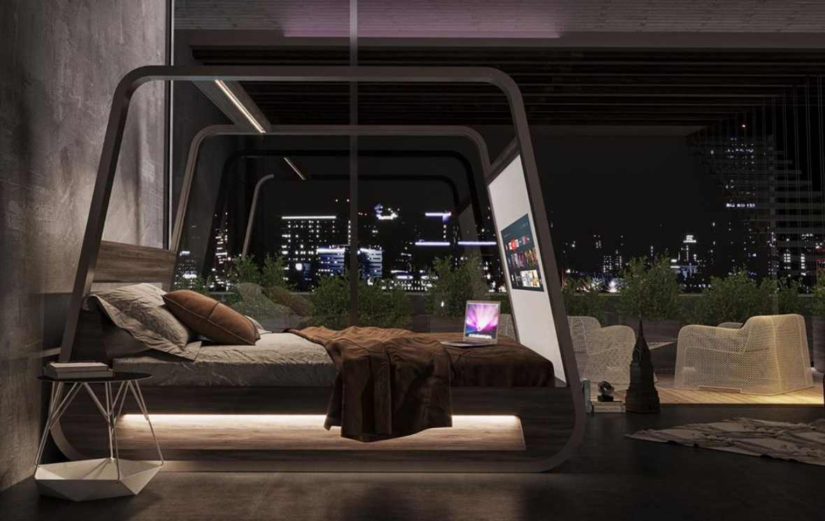 There's A New Smart Bed With A 70-Inch TV Screen Attached To It, Perfect For All Our Bingewatching Needs