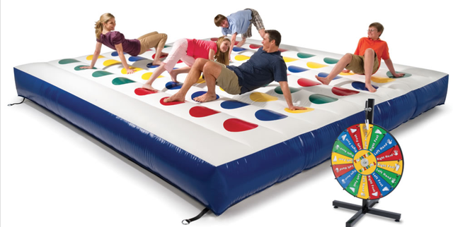 A Giant Inflatable Game of Twister Is Exactly What You Need For Your Next Party