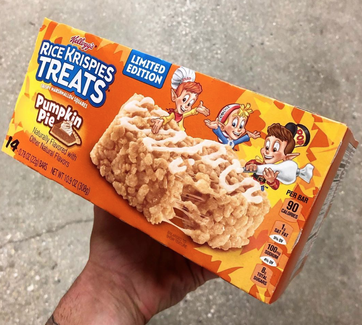 Kellogg's Just Brought Back Its Pumpkin Pie-Flavored Rice Krispie Treats