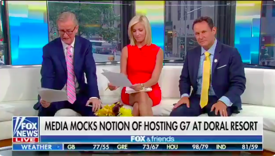 Fox & Friends Offered Comically Dumb Defenses of Trump's G7 Grift