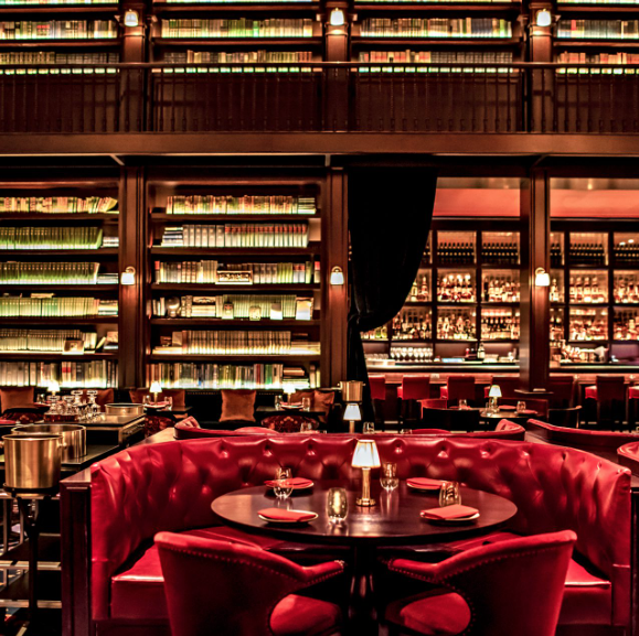 Restaurant, Building, Room, Interior design, Bar, Organization, Table, Diner, Business,