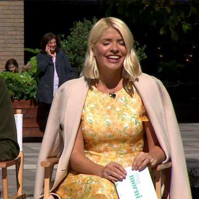 Holly Willoughby is a vision in yellow in the floral dress of our dreams