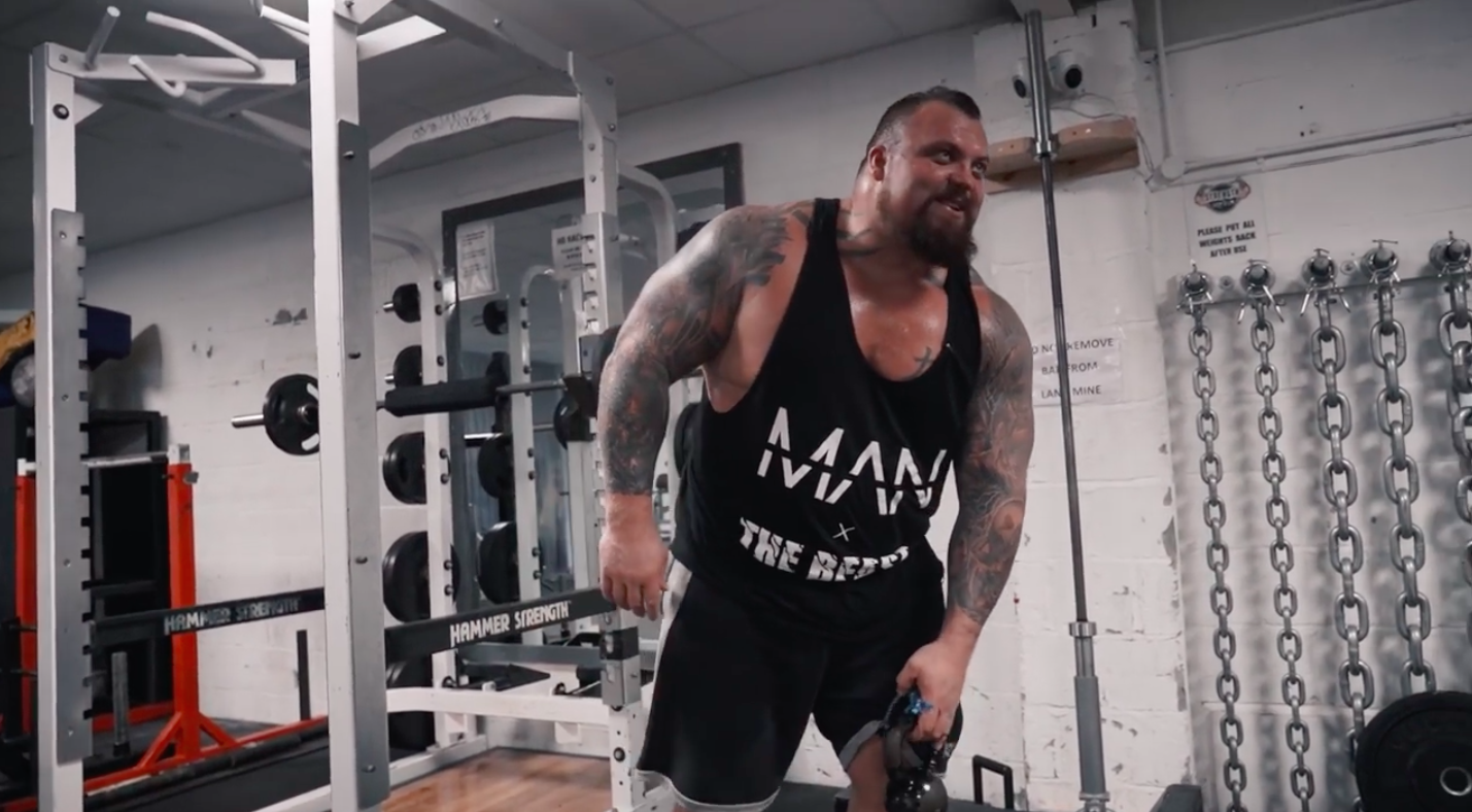 Strongman Eddie Hall Just Lifted a Kettlebell With His Penis