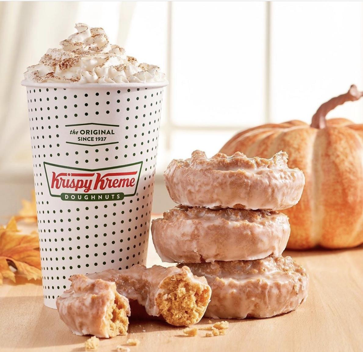 Krispy Kreme Brought Back Its Pumpkin Spice Cake Donut And Pumpkin Spice Latte