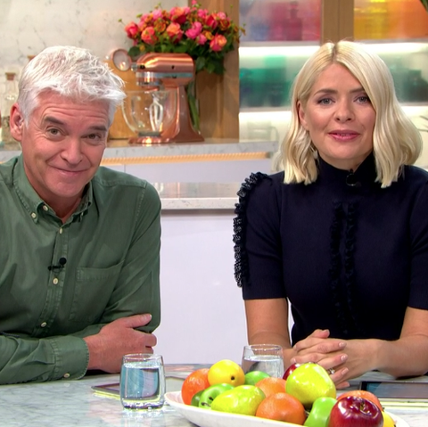 Holly Willoughby black flared trousers