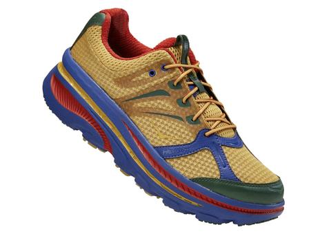 Shoe, Footwear, Running shoe, Outdoor shoe, Walking shoe, Product, Athletic shoe, Cross training shoe, Yellow, Electric blue,